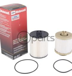fuel filter set for the 2008 2010 ford powerstroke 6 4l engine contains both the top mounted and frame mounted fuel filter  [ 1000 x 800 Pixel ]
