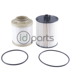 fuel filter set for the 6 4l powerstroke diesel engine used in the ford super duty pickup  [ 1000 x 800 Pixel ]