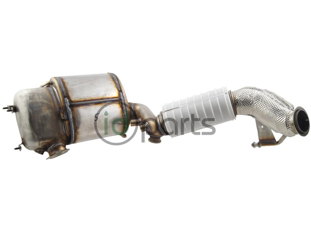 hight resolution of downpipe assembly with diesel particulate filter for the 2010 2014 jetta tdi golf tdi sportwagen tdi and beetle tdi with engine code cjaa