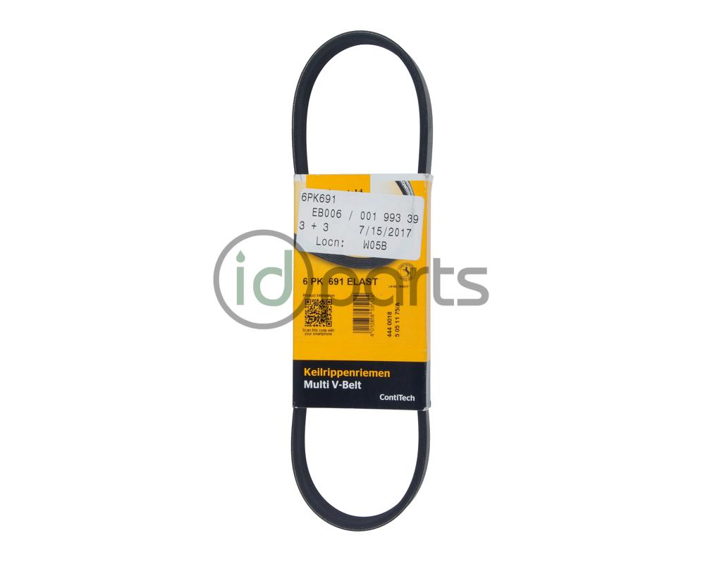 hight resolution of 6 rib 690mm long serpentine belt for the om642 mercedes benz 3 0l v6 diesel fits sprinter om642 that are equipped with two serpentine belts