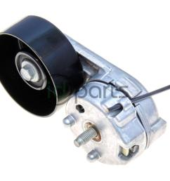 tensioner for the serpentine accessory drive belt for the powerstroke 6 4l engine used in the ford superduty not for the a c compressor belt  [ 1000 x 800 Pixel ]