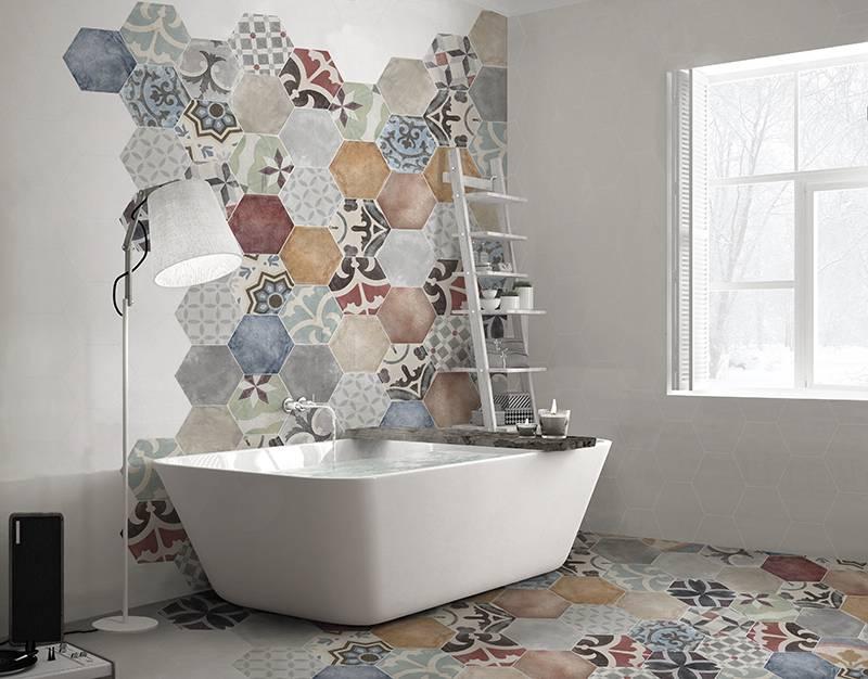 Carrelage Imitation Carreau De Ciment Hexagonaux Colore Pour Sol Ou Murs Interieur Aix En Provence Carrelage Interieur Et Exterieur A Eguilles Salle Bain Cuisine Et Terrasse