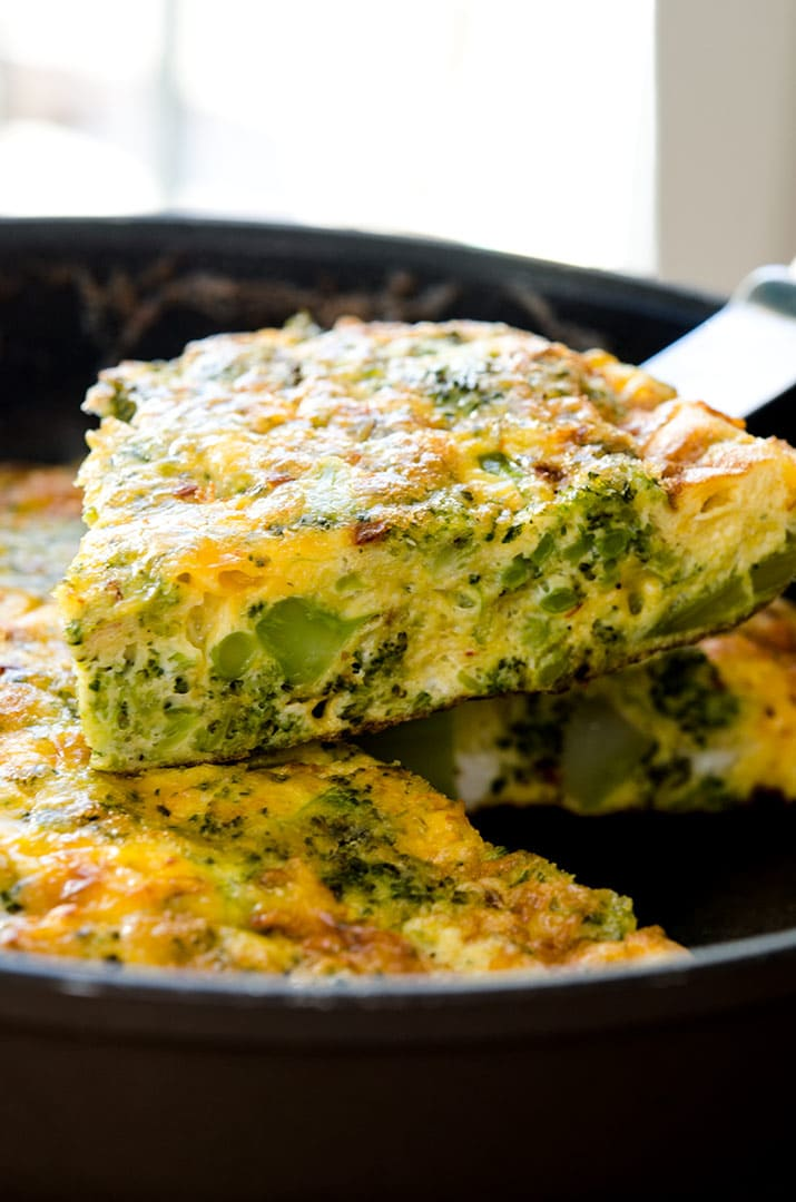 frittata with broccoli and cheddar