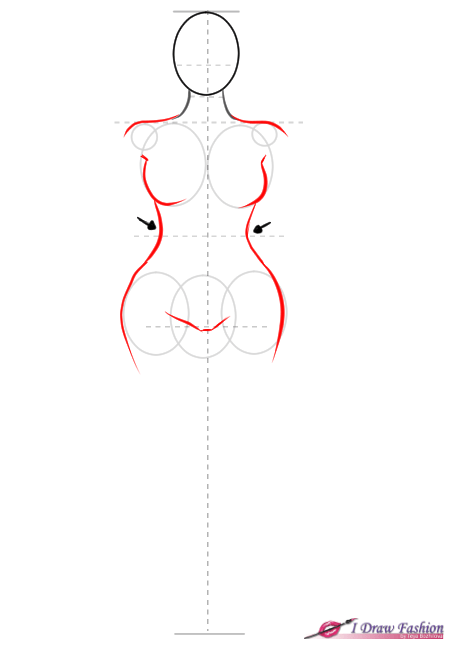 How to draw plus size fashion figure step 5