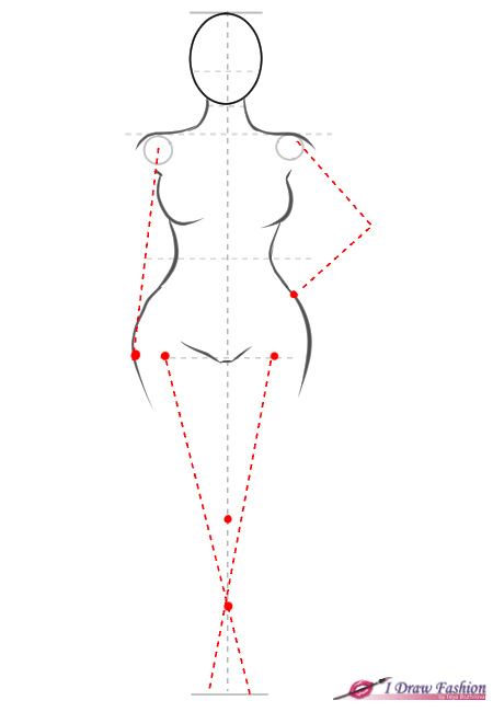 How to draw plus size fashion figure step 6