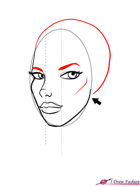 How to draw a face in semi profile tutorial