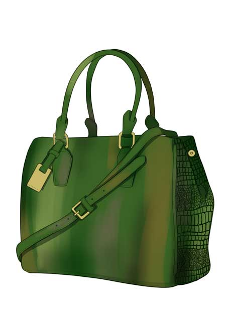 How to draw crocodile skin bag in fashion sketches step 09