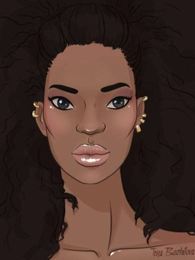 How-to-draw-black-woman-face-in-fashion-design-sketches-step_9