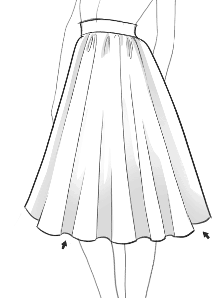 How-to-draw-a-flared skirt-step-by-step-tutorial-10