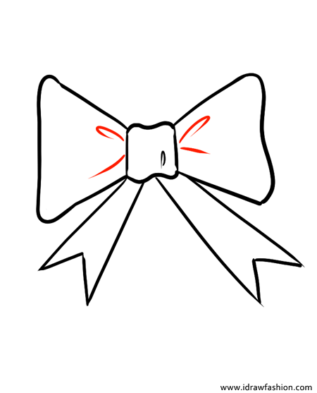 how to draw a bow step 5