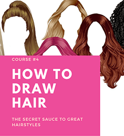 HOW TO DRAW HAIR online fashion designing course