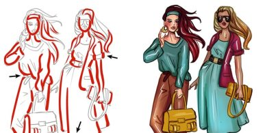Photo of Beginners guide to Coloring fashion sketches