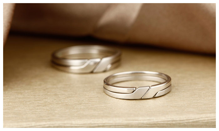 Interlocking Infinity Promise Rings For Couples Polished