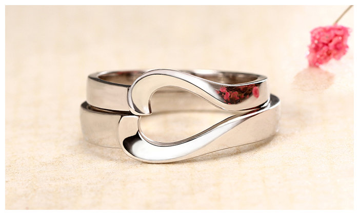 Two Half Hearts Puzzle Promise Rings For Women And Men