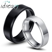Black And White Wedding Ring Sets