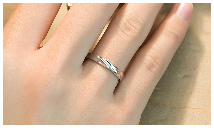 Simple Wave Promise Rings For Couples 925 Sterling Silver