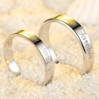 Love Forever Engraved Promise Rings for Couples ...
