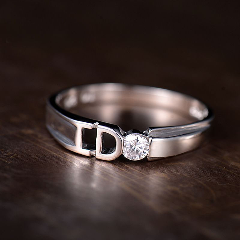 Yes I Do Promise Rings for Couples, Unique Polished