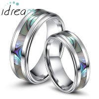 Mother of Pearl Inlaid Tungsten Wedding Bands Set for ...