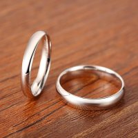 Polished Domed Couple Wedding Bands Set for Men and Women ...