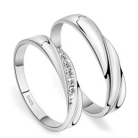 Couple Rings : Matching His and Hers Promise Rings for
