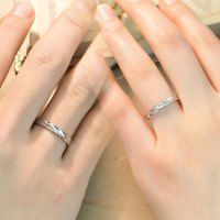 Simple Wave Promise Rings for Couples, 925 Sterling Silver ...