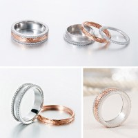 Rose Gold And Silver Wedding Rings - Image Wedding Ring ...