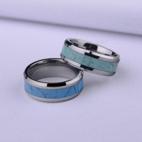 Turquoise Inlaied Tungsten Wedding Bands Set for Men and ...