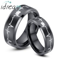 Black Wedding Rings His And Hers - Image Wedding Ring ...