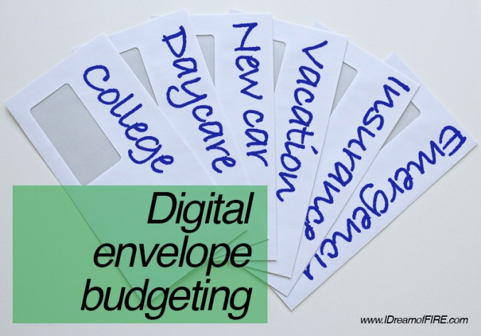 budget for future expenses with the digital envelope system i