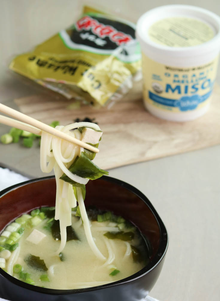 Miso Noodle Soup with Udon