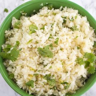 Cilantro Lime Cauliflower Rice Keto Low-carb low calorie low fat