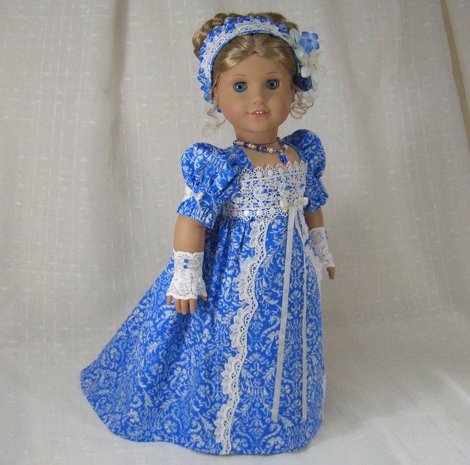 Blue Regency Dress