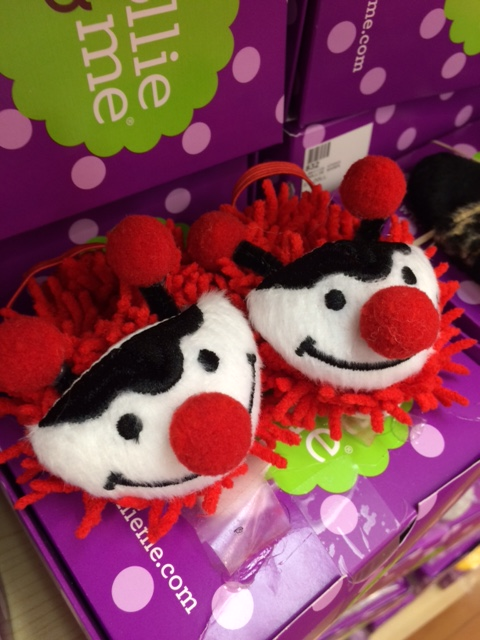 blog dollie and me red black fun face slippers