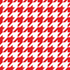 blog red and white houndstooth check fabric
