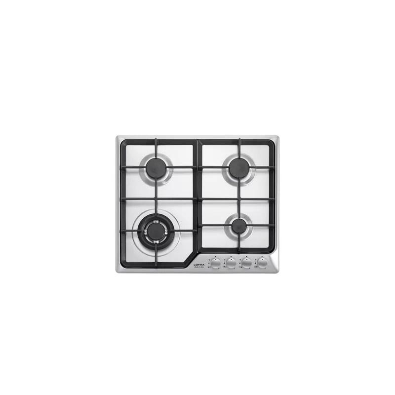 Piano cottura 60 cm in acciaio inox satinato per cucina ad incasso HDS690 Artes 60