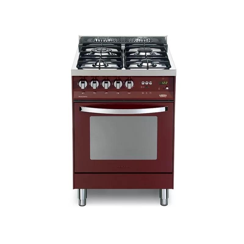 Cucina Con Forno Elettrico E Piano Cottura Rosso Burgundy Pr 66gvtc