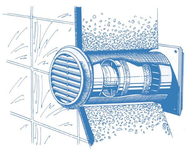 Blauberg Decor 125s Griglia di Aerazione a Muro
