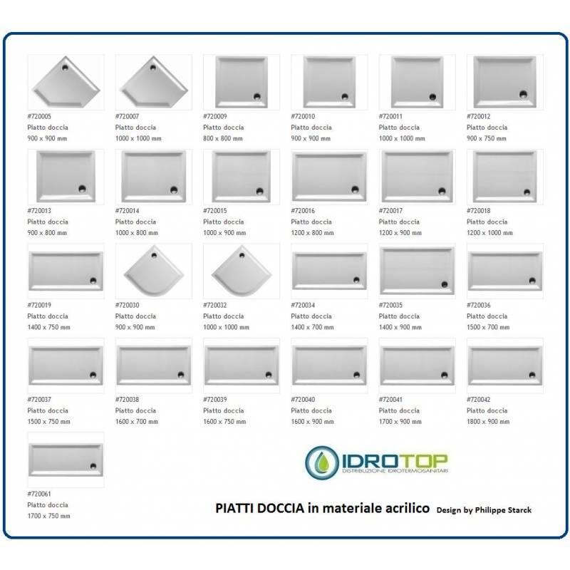 PIATTO DOCCIA RETTANGOLARE 900X750 cod 720012 STARCK
