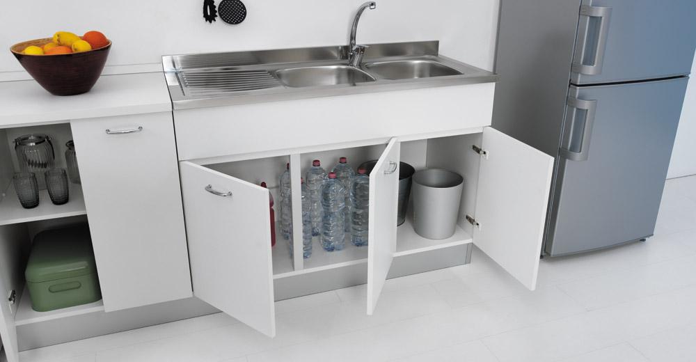 Sottolavello mobile per cucina lavello in inox 100x50