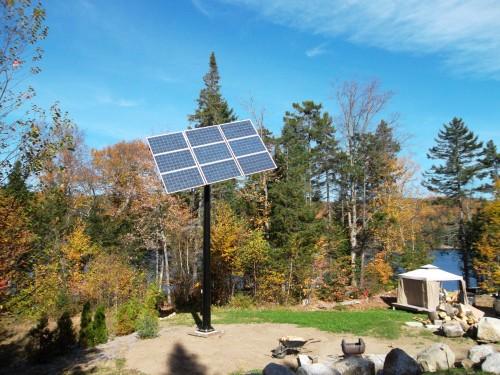 Pointeur solaire pour 12 panneaux solaires chalet Harvey Lac au Sables 2012