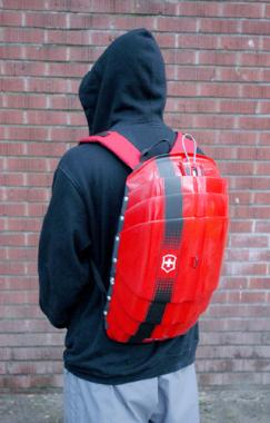 Hard shell backpack with locking system  Industrial