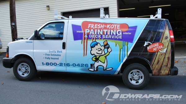 Chevy Express Cargo Van Wrap Painting Contractor Lancaster