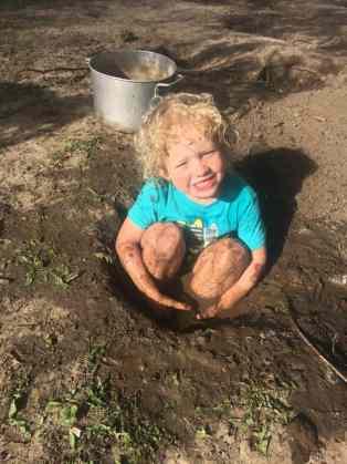 Christian Taking a Mud Bath