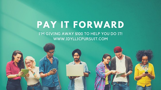 How Do You Pay It Forward? + {giveaway}