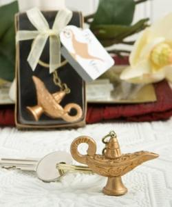 Gold Magic Lantern Key Chain