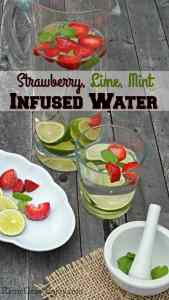 Strawberry, Lime, and Mint-Infused Water and other strawberry recipes at www.idyllicpursuit.com