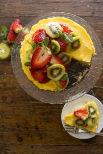 Fresh Fruit Tart with Italian Cream Filling and other strawberry recipes at idyllicpursuit.com