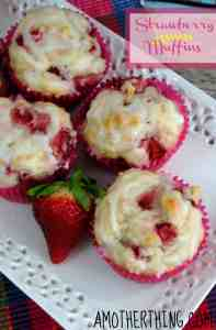 Strawberry Lemon Muffins and other strawberry recipes at www.idyllicpursuit.com