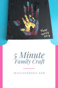 This family craft takes just five minutes at idyllicpursuit.com